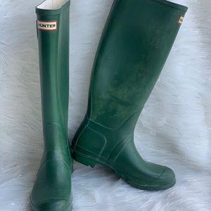 Hunter Green Original Rain boots Wo. 8